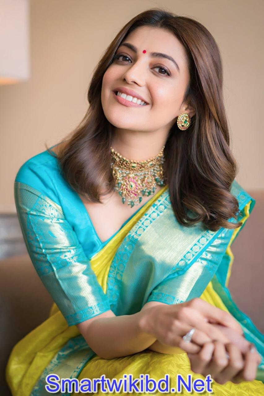 Indian Actress Kajal Aggarwal Hot Saree Photos Gallery 2021-22
