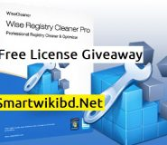 Download Wise Registry Cleaner Pro Free License Giveaway 2021