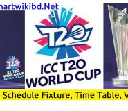 ICC T20 World Cup 2021 Schedule Match Fixture, Time Table, Venue, Stadiums